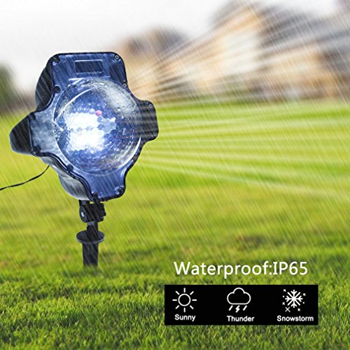 Snowfall Outdoor Led Christmas Lights Displays Projector Show Waterproof Rotating Projection Snowflake Lamp with Wireless Remote for Xmas Halloween Party Wedding and Garden Decorations by BEIYI HOME-US (Image #5)