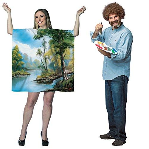 Bob Ross Artist Couples Costume Bundle -