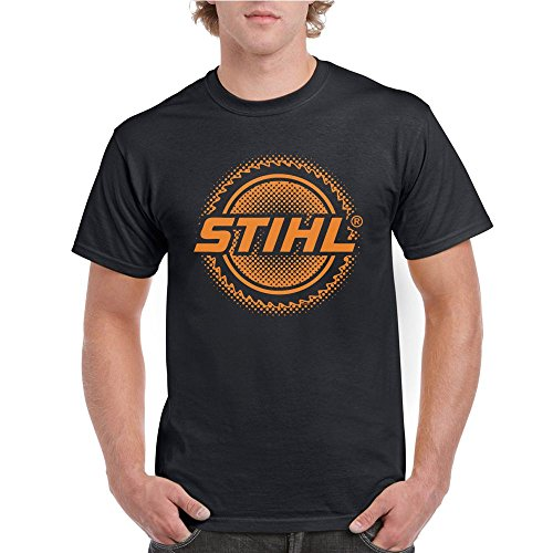 One Side Logo STIHL Tools Chainsaw Unsex Shirt (Black, X-Large)