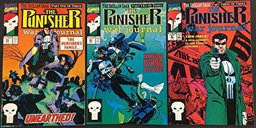 Punisher War Journal (1988) 25 26 27 VF+ complete 3 part The Sicilian Saga story