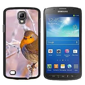 TECHCASE---Cubierta de la caja de protección para la piel dura ** Samsung Galaxy S4 Active i9295 ** --Rama de árbol del pájaro de la nieve del hielo invierno frío Puffy