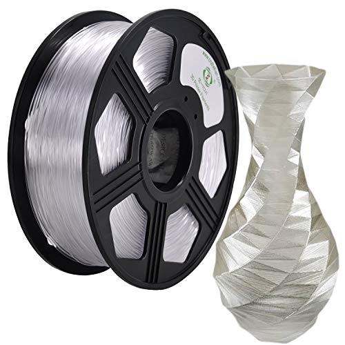 - YOYI 3D Printer Filament,Petg Filament 1.75mm,Dimensional Accuracy +/- 0.03 mm,1kg Spool(2.2 lbs),100% raw Material, Eco-Friendly (Clear)