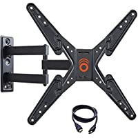 ECHOGEAR Full Motion Articulating TV Wall Mount Bracket 26-55 inch TVs - Features 20 inches Extension, 15 Degrees Tilt 180 Degrees Swivel Flat Screen TVs - EGMF1-BK
