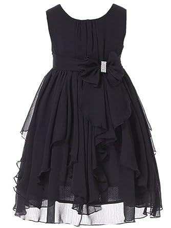 Amazon Bow Dream Flower Girl Dress Ruffled Chiffon Clothing