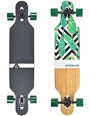 Apollo Bamboe Longboard - Speciale Editie Compleet Board incl. T-Tool Drop-Through Freeride Skating Cruiser Boards…