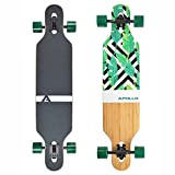 Apollo Longboard Special Edition Complete Board incl. T-Tool with High-Speed ABEC Bearings, Drop-Through Freeride Skating Cruiser Boards