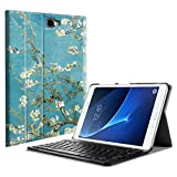 Fintie Samsung Galaxy Tab A 10.1 (NO S Pen Version) Keyboard Case, Slim Lightweight Stand Cover w/Magnetically Detachable Wireless Bluetooth Keyboard Compatible with Tab A 10.1 Inch, Blossom