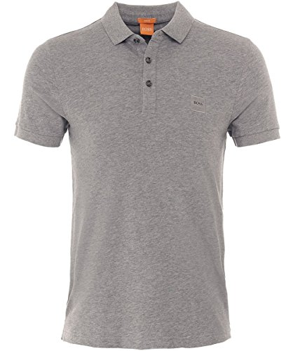 Hugo Boss Men's Hugo Boss Orange Men's Slim Fit Grey Pavlik Polo Shirt XXL