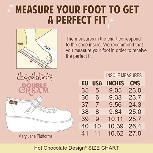 Hot Habana Women's Chocolaticas Chocolate Platform Flower Mary Jane Design gwfgZqn7