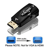 Dasteck®1080p HDMI Male to VGA Female Video Converter Adapter with 3.5 mm audio cable for PC, TV, Laptops, and Other HDMI Devices