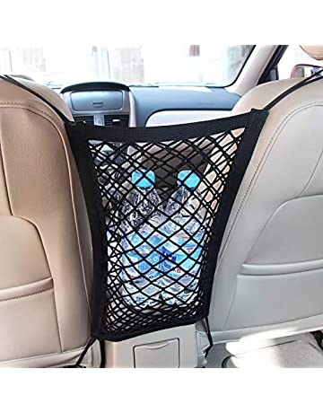 Layer Vertical Network Car Rear Organizer Cargo Elastic String Net Storage Bag Flexible Automobile Cargo Net Mesh for SUV,Truck Bed or Trunk Universal Double