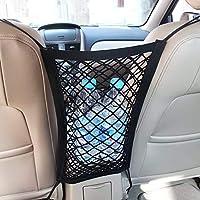 MICTUNING Universal Car Seat Storage Mesh/Organizer - Mesh Cargo Net Hook Pouch Holder for Bag Luggage Pets Children…