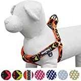 Blueberry Pet 2 Colors Soft & Comfy Step-in Vintage Tribal Pattern Padded Dog Harness, Chest Girth 19.5'' - 25.5'', Extravagant Orange, S/M, Adjustable Harnesses for Dogs