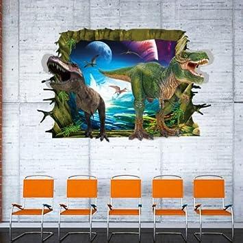 Dekoration 3d Wandtattoo Dinosaurier Dino Wandsticker Kinderzimmer Deko Wanddurchbruch Loch Mobel Wohnen Elin Pens Ac Id