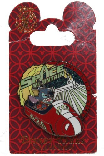 (Disney Pin Space Mountain Stitch Glow in the Dark From 2008 Release)