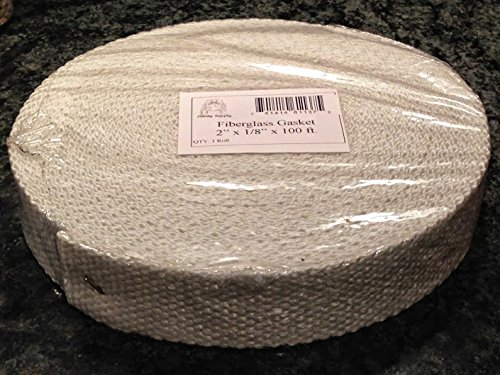 Non-Adhesive 2 wide x 1//8 thick x 100ft Roll Fiberglass Boiler Tape