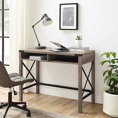 Deal of the week: Walker Edison Callum Modern Farmhouse Metal X Writing Desk