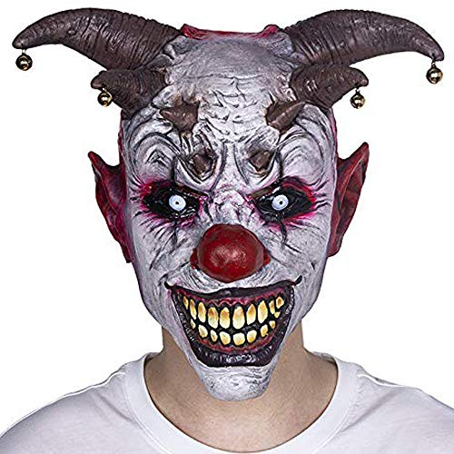 Extremely Scary Halloween Costumes (XIAO MO GU Halloween Clown Mask Jingle Jangle Scary Clown Mask Halloween Party Costume)