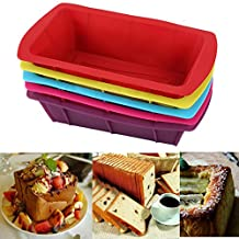 FVIEW Silicone Toast Cake Mold Pan Cake Baking Molds Moulds