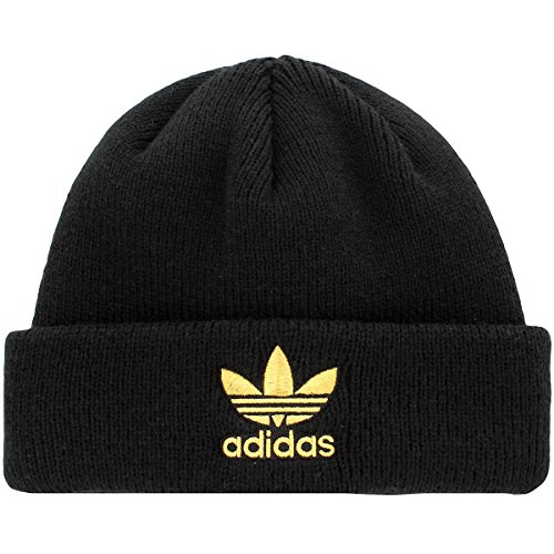 ls Trefoil Beanie, Black/Gold, One Size ()
