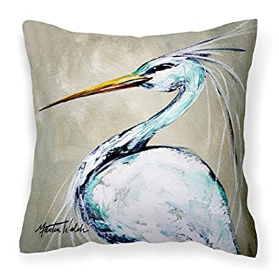 Caroline's Treasures MW1132PW1414 Blue Heron Smitty's Brother Canvas Fabric Decorative Pillow, 14Hx14W, Multicolor : Garden & Outdoor