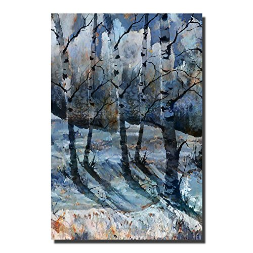 d56bab09b2 JRMISSLI The Birch Forest Modern Giclee Canvas Prints Artwork Grey Trees  Oil Paintings Reproduction Pictures on