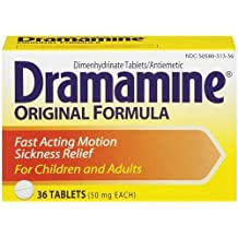 Dramamine Original Formula, 36-Count Boxes (Pack of 3)