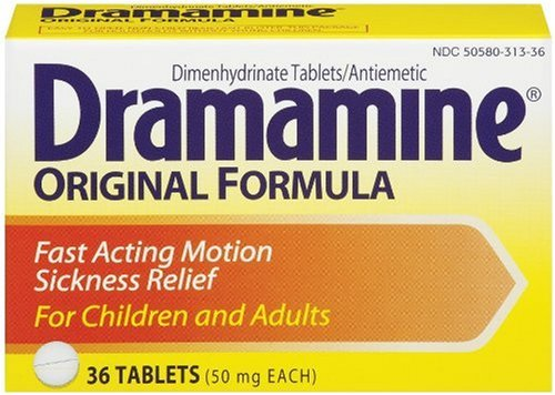 Dramamine Original Formula, 36-Count Boxes (Pack of 3) by Dramamine