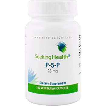 Seeking Health | P-5-P (pyridoxal 5-phosphate) | 25 mg Active Vitamin B6 Supplement | 100 Vegetarian Capsules