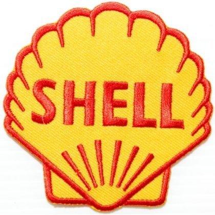 Toppa ricamata con logo della Shell, ideale per giacche da motociclisti, magliette e auto, da cucire o applicare con ferro da stiro