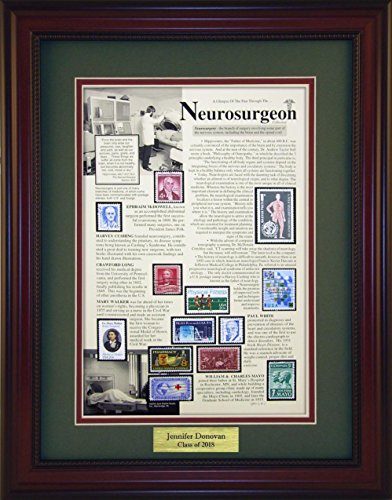 Neurosurgeon - Unique Framed Collectible (A Great Gift Idea) with Personalized Engraved Plate