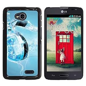 Be Good Phone Accessory // Dura Cáscara cubierta Protectora Caso Carcasa Funda de Protección para LG Optimus L70 / LS620 / D325 / MS323 // Music Water Heart