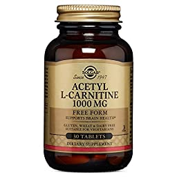 Solgar Acetyl L-Carnitine Tablets, 1000 mg, 30 Count