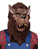 Fun World Unisex-Adults Big Bad Wolf Mask, Brown, Standard