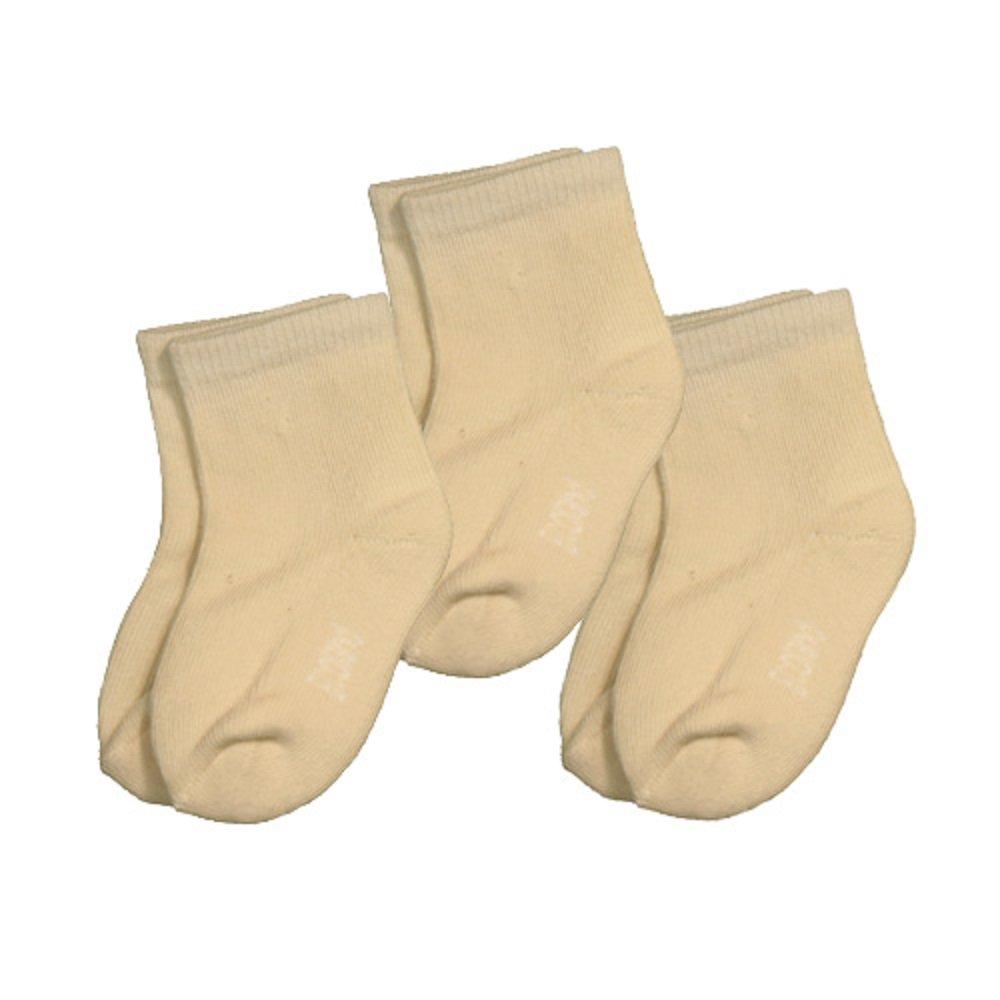 3 Pairs Ecoland Unisex-Baby Infant Organic Cotton Newborn Quarter Socks 0-6 months
