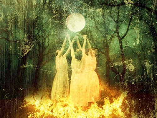The Sacred Circle - 24x36 Poster Print - Moon Goddess Art
