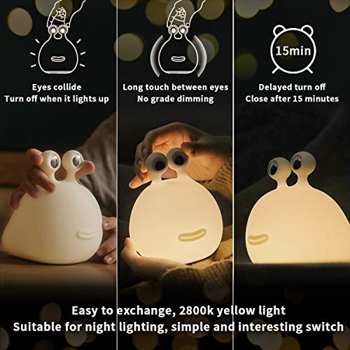 【MUID Original Authentic】 Slug Night Light, Nursery Squishy Lamp, Silicone Night Light for Breastfeeding, Cute Animal…