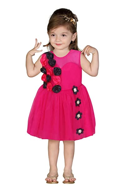 b61c1c4dc Apna Party Dress Party Frock for Kids Flower with Red Colour (12-18 ...