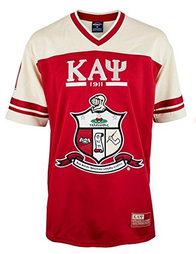 Kappa Alpha Psi Fraternity Mens New Football Jersey 3XL Crimson Red -