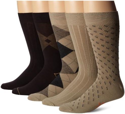 Dockers Men's Classics Dress Argyle Crew Socks, (Pack of five)