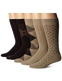 Dockers Men's 5 Pack Classics Dress Argyle Crew Socks