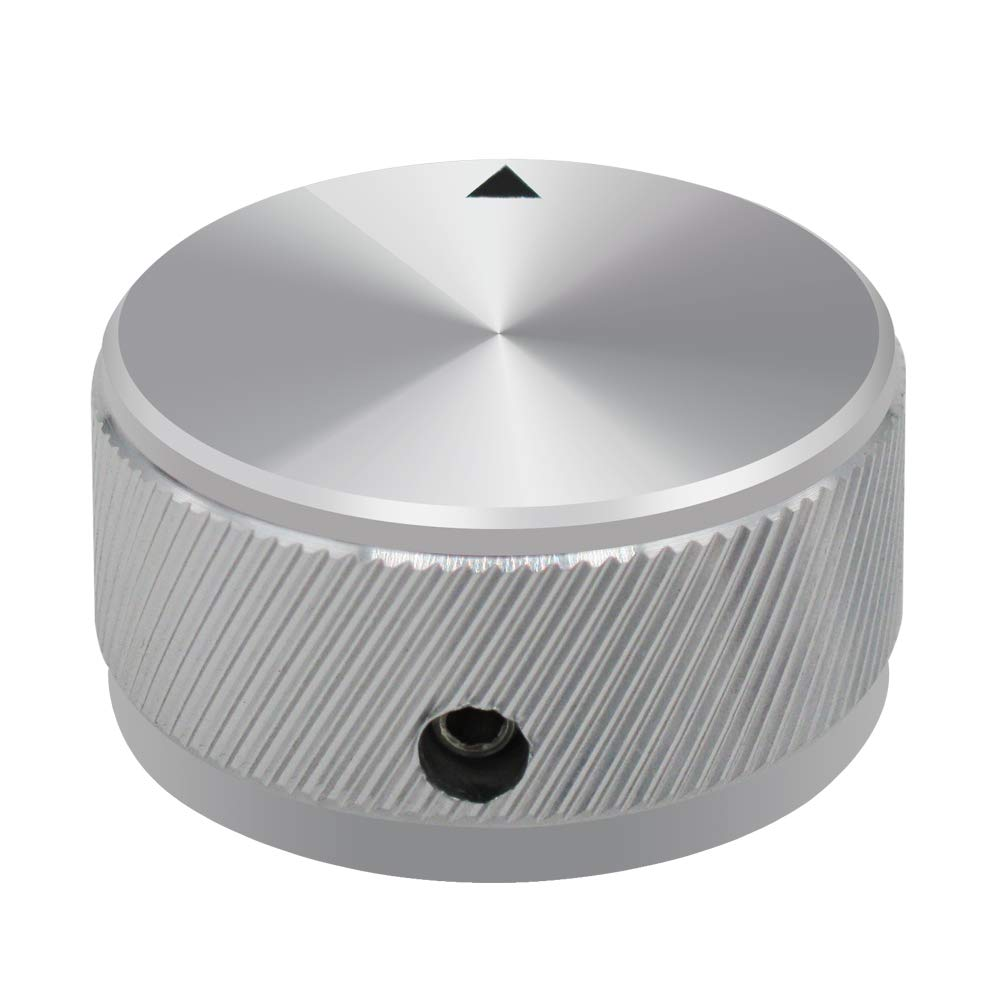 mxuteuk Black Aluminum Alloy Potentiometer Control Knob Volume Audio Electric Guitar Bass Screw Type 34 x 17mm KNOB-06-34BK dh