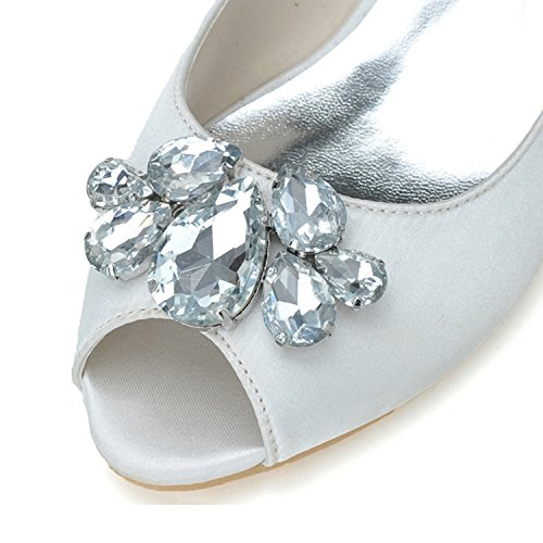 Elobaby Zapatos De Sat Mujeres De Rhinestones Boda Las rrxdvq1B