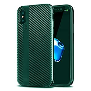 iPhone X Case, Willnorn iPhone 10 Case Cover with Resilient Shock Absorption and Carbon Fiber Design for iPhone X