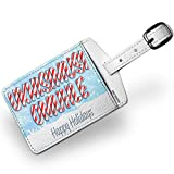Luggage Tag Merry Christmas in Afrikaans from South Africa - NEONBLOND