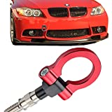 bmw 325ci tow hook - JGR Track Racing Style Tow Hook Towing Eye CNC Aluminum Screw On Front Rear Bumper For BMW 3 Series E36 E46 E90 E91 E92 E93 318 320 323 325 328 330 335 M3 1992 to 2012 Red