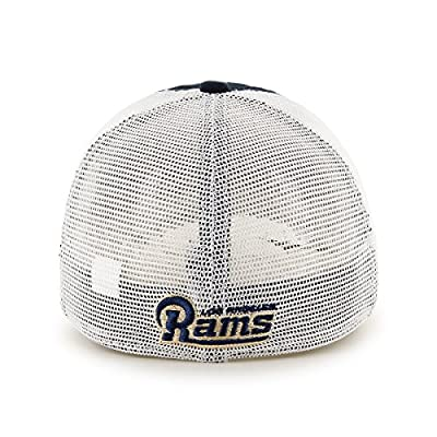 NFL Los Angeles Rams Blue Hill Closer Mesh Stretch Fit Hat, Navy, One Size