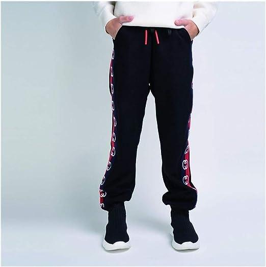 SUIWO Pantalones de fitness para niño Pantalones pantalones pantalones pantalón elástico del basculador de algodón grueso Pantalones largos deportivos de chándal Pantalones de las muchachas de los niñ: Amazon.es: Hogar