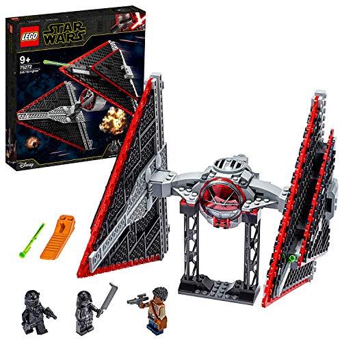 LEGO Star Wars - Caza TIE Sith, Maqueta para Montar un Set Inspirado en la Guerra de las Galaxias una Esperanza, Incluye Soporte para Exponer, Juguete de Construccion a Partir de 9 Anos (75272)