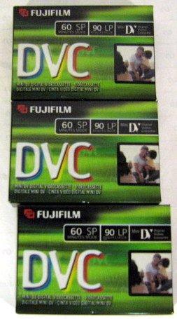Fujifilm DVC DVM60 3 Pack Mini DV Tapes